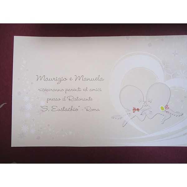 partecipazioni di nozze E47555