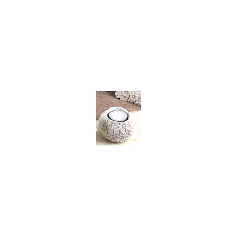 sfera portacandela + tealight +scatola cm.8x8