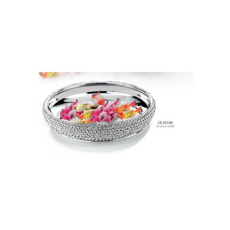 centrotavola tondo in cristallo d 24 h.5.5 - Linea Moda Collection