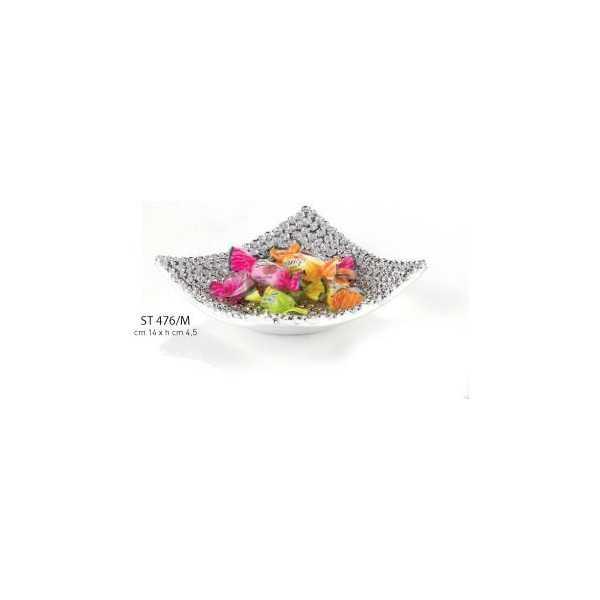 piattino quadrato piccolo cm 14 h.4.5 - Linea Moda Collection