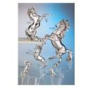 cavallo rampante IV°misura cm.27x13.5x35 (metallizzato e brunito)