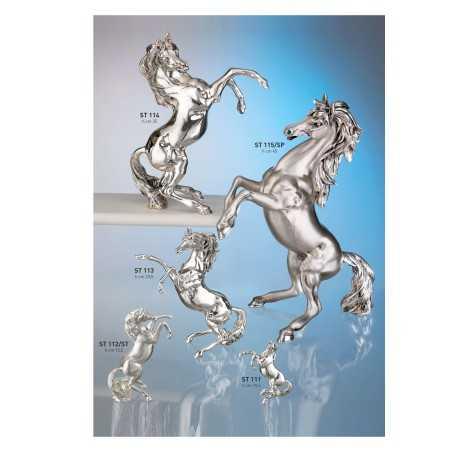 cavallo rampante V °misura cm.35x19x45 (metallizzato e brunito)