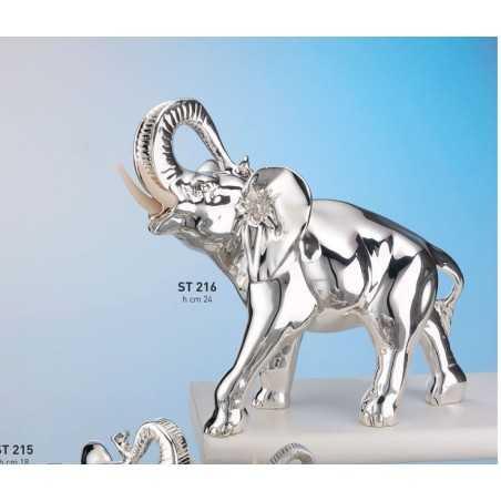 elefante zanne VI° misura cm.26.5x14x24 (metallizzato e brunito)