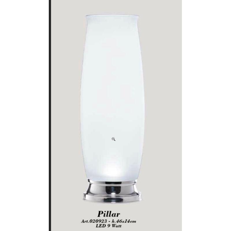 lampada satinata Fiorile h.45 - vaso in cristallo satinato con una base illuminante.SOLIDO