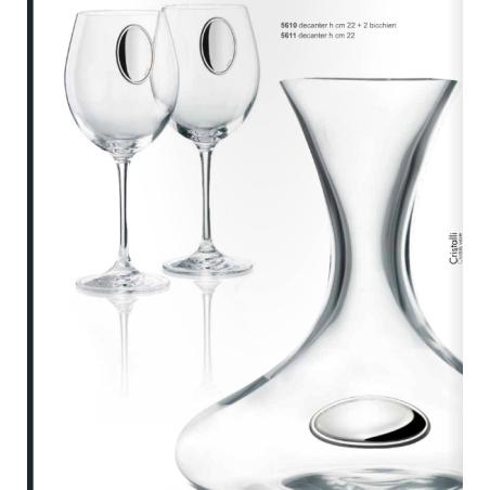 set degustazione decanter + due bicchieri VALENTI