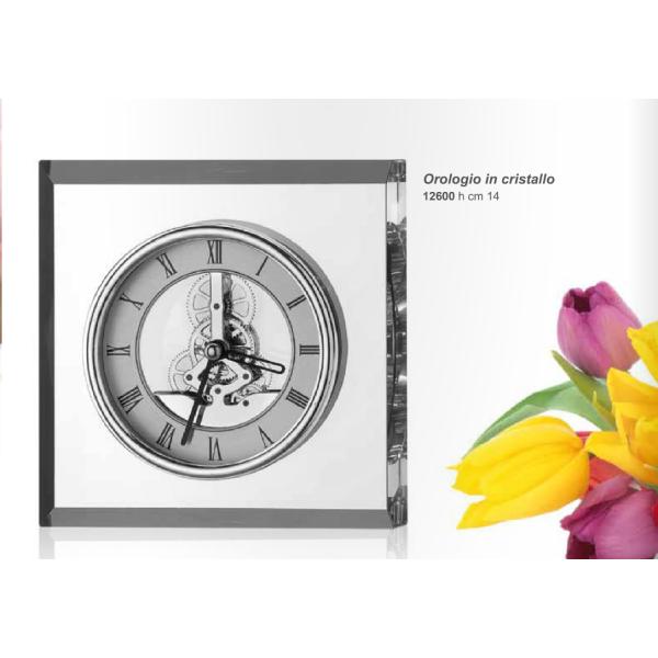 orologio in cristallo h.14 VALENTI