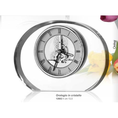 orologio in cristallo h. 13.5 VALENTI