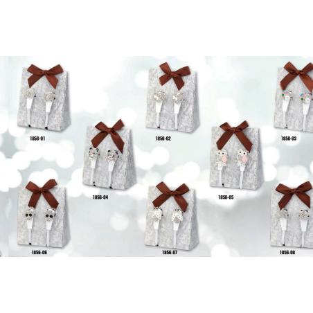 auricolari bianchi BAGUTTA con microfono+volume +doppia decorazione