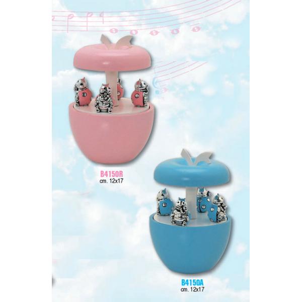 carillon mela rosa con 4 coccinelle 12x17 BAGUTTA