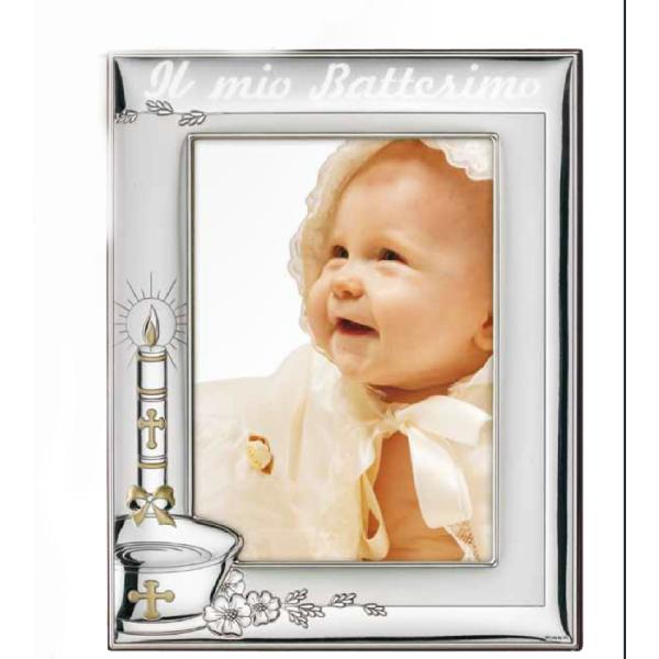 cornice battesimo-cresima-comunione con testo 13x18 retro legno