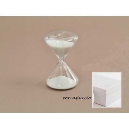 Clessidra vetro con scatola CM 5x8