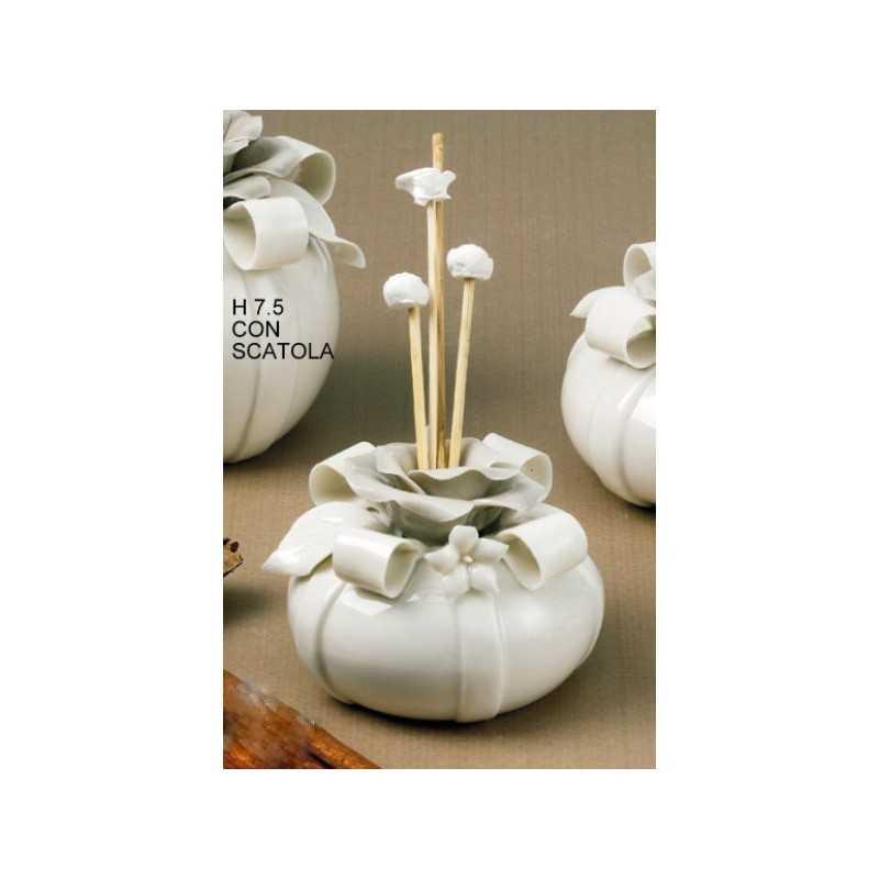 Profumatore ceramica panna e tortora