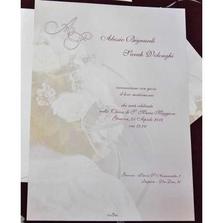 Partecipazioni di nozze E47554
