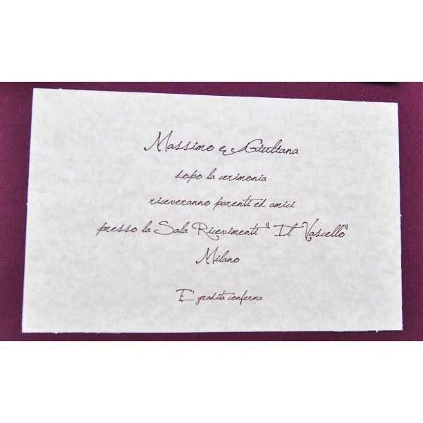 Partecipazioni di nozze E45502