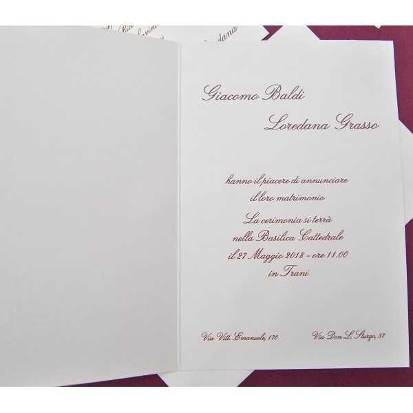 Partecipazioni di nozze E-47523
