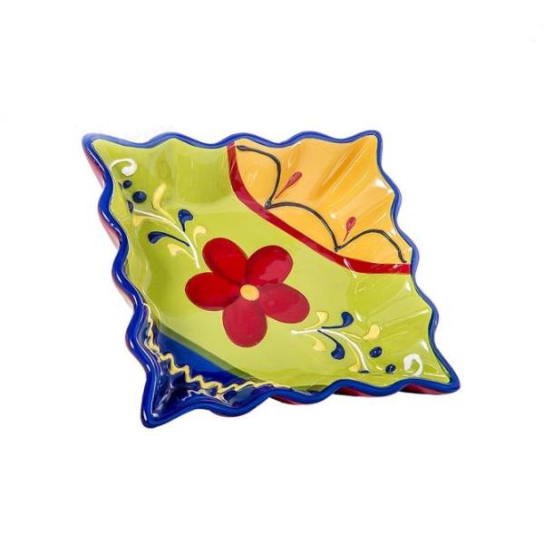 Bomboniera piatto quadrato grande colori vivaci