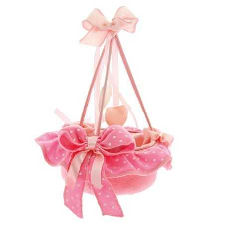 Cestino mini portaconfetti rosa- cielo in feltro