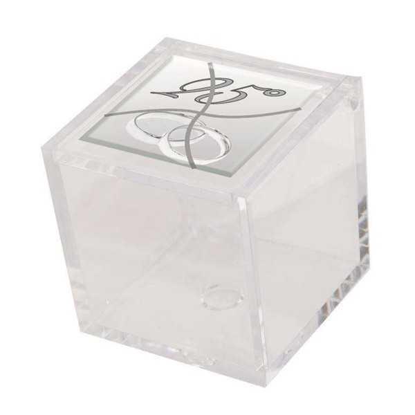 Bomboniere Nozze D'Argento/ Nozze D'Oro Scatola in plexiglass