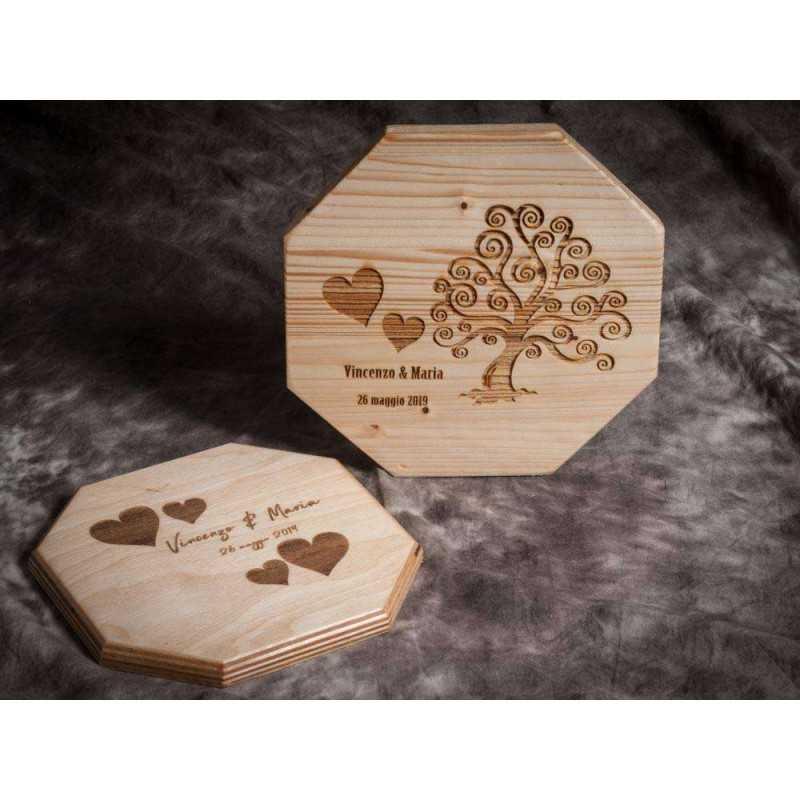 Bomboniere Matrimonio In Legno : Bomboniere matrimonio calamite legno personalizzate feste