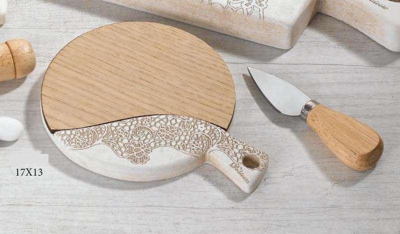 Bomboniere Matrimonio 6 Euro.Bomboniera Matrimonio Tagliere In Legno Ceramica Made In Italy
