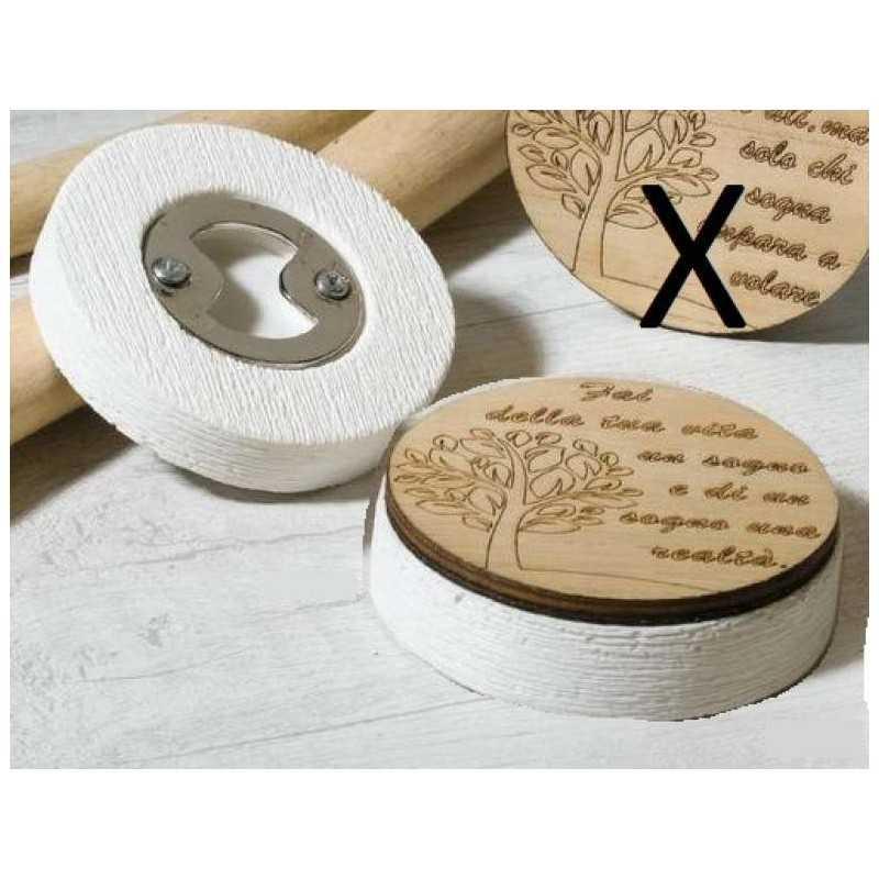 Bomboniera Matrimonio Apribottiglie in legno