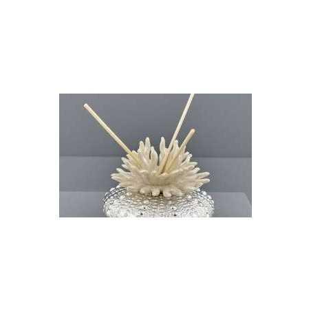 Bomboniera matrimonio Profumatore Ceramica Corallo silver