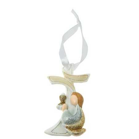 Bomboniera Sacro Appendino croce con glitter