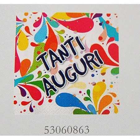 TOVAGLIOLI BATTESIMO  ORSETTI - LAUREA -  TANTI AUGURI 33X33 CM (20 PZ)